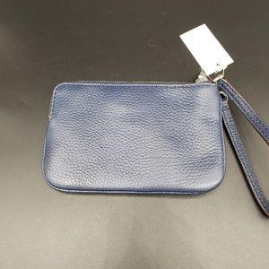 Michael Kors Bags - Michael Kors Medium Zip Top Navy Wristlet